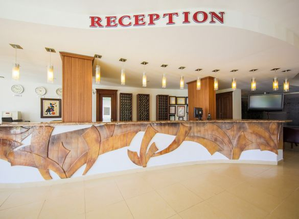 The lobby and reception